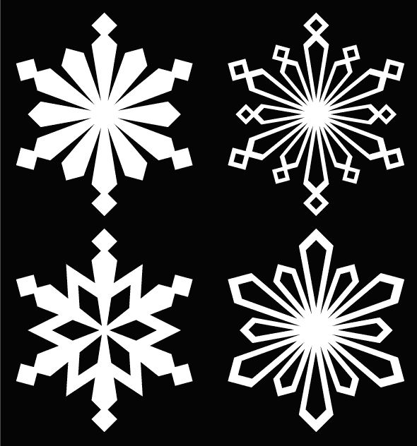 Free snowflake cutting files #Silhouette #CutFile