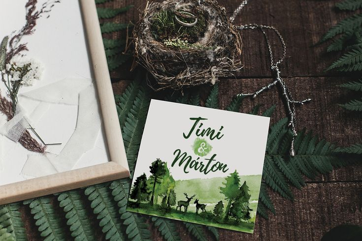Timi&Márton watercolor wedding stationery design on Behance