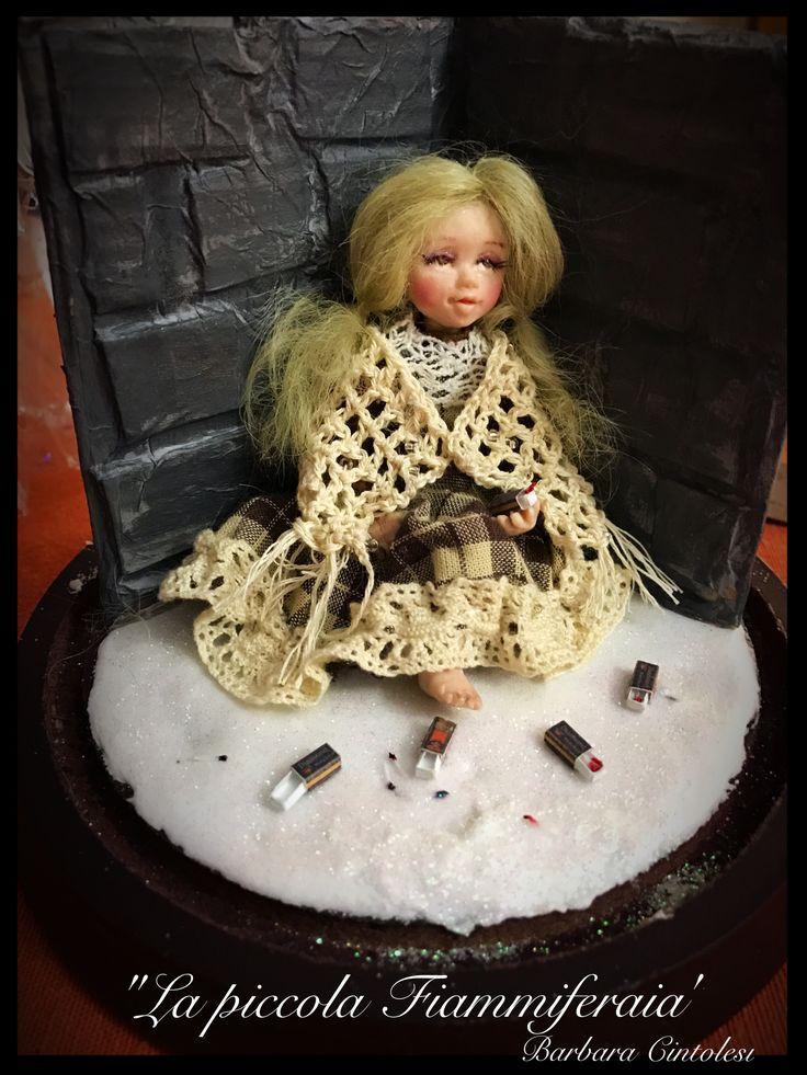 La piccola Fiammiferaia - Ooak doll - The little match girl ooak - fiaba