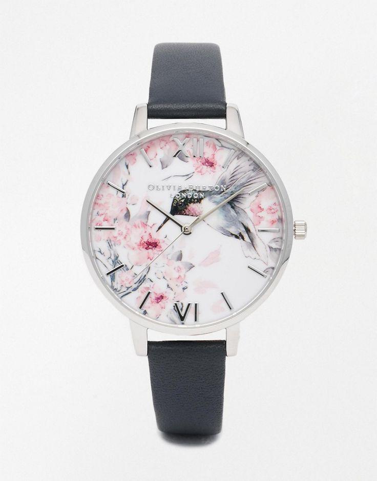 Image 1 ofOlivia Burton Painterly Print Silver Watch