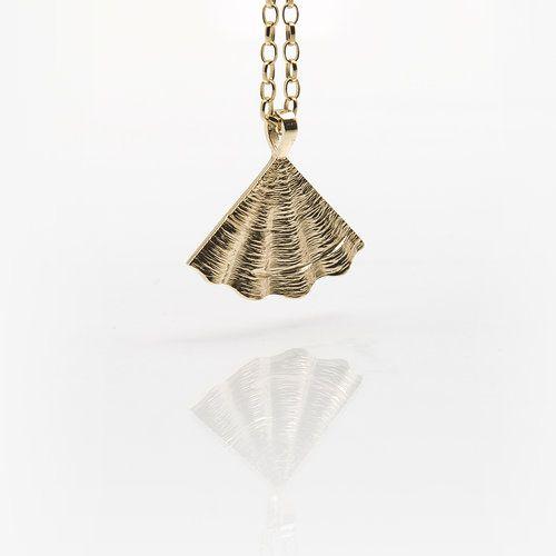 Irish Designer Gold Pendant - Shore Collection
