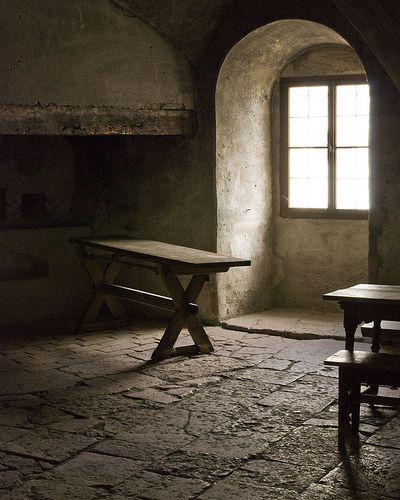 medieval kitchen at the castle in Salzburg Austria