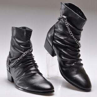 Тенденции способа высокого острым носом мужские сапоги ботинки мужчины сапоги старинные джинсовые сапоги 2023,79