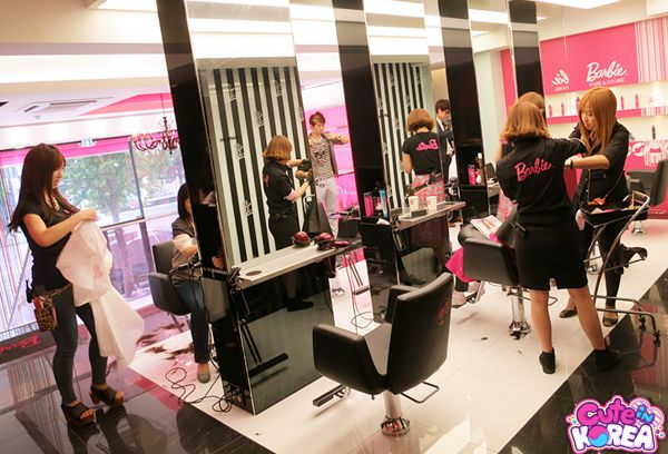 Back to back stations barbie hair salon in seoul for Dion hair salon