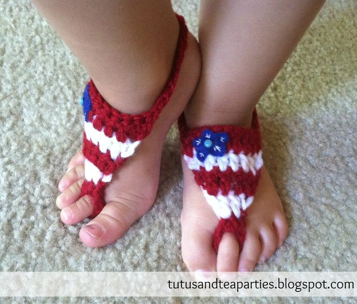 Free Crochet Pattern Baby Barefoot Sandals : 1000+ images about Free Baby Barefoot Sandal Crochet ...