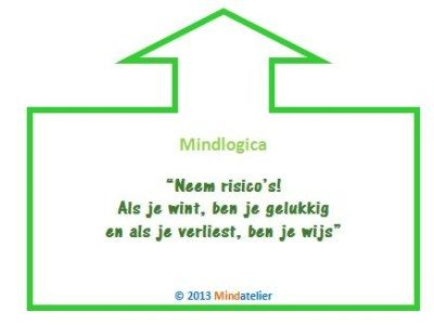 Neem risico's. Als je wint, ben je gelukkig. En als je verliest ben je wijs.   Mindlogica is een uitgave van Mindatelier. Wil je meer informatie of heb je een vraag, stel hem gerust!
