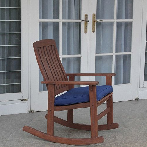 Better Homes and Gardens Delahey Wood Porch Rocking Chair