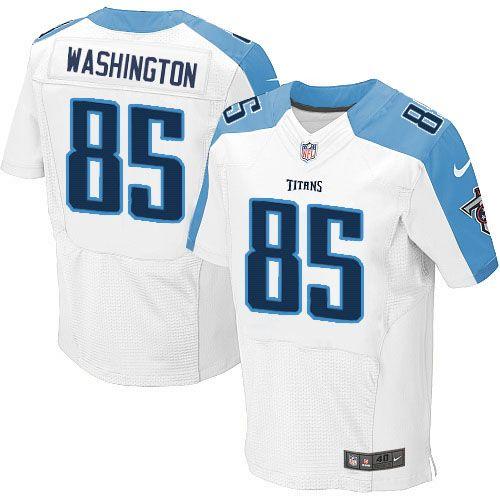 Men Nike Tennessee Titans #85 Nate Washington Elite White NFL Jersey Sale