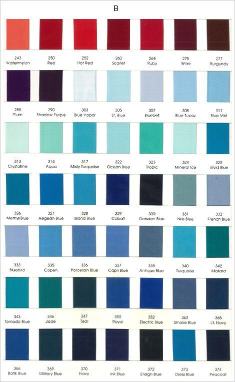 Color chart lt blue ocean blue nile blue too dark for Dark blue color chart