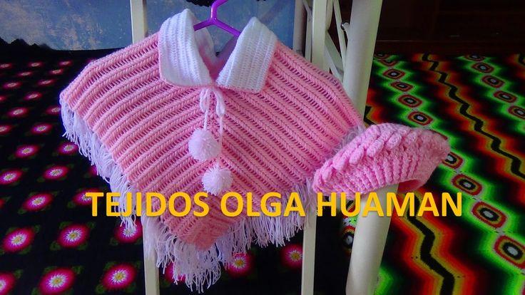 poncho tejido a crochet para bebe o niña paso a paso ~ **Free Crochet Video Tutorial**