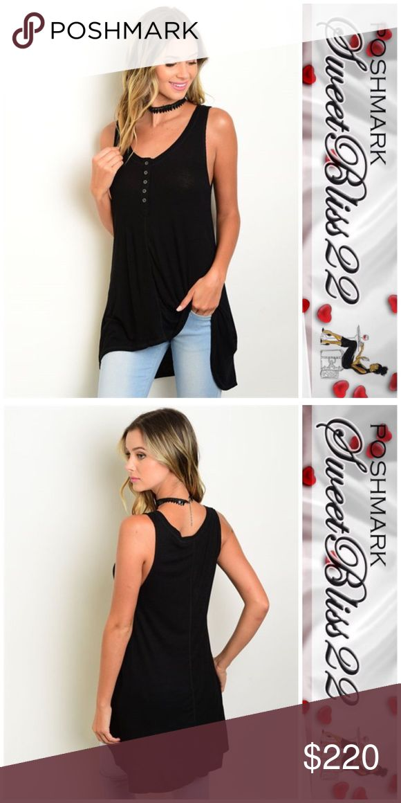 Stunning Black Top Gorgeous, comfortable and stylish are just a few words to describe this top! Versatile, can be worn with jeans or shorts! Don't miss out! ⭐️97% Rayon 3% Spandex Comes in SML⭐️Small measures 34 inches in the bust ⭐️Medium measures 36 inches in the bust ⭐️Large measures 38 inches in the bust Tops