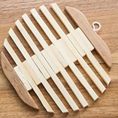 Skylink New Arrival Wooden Dining Table Placemats Pot Cup Mat Heat Insulation Kitchen Accessories Decoration Home Table Wood Mat