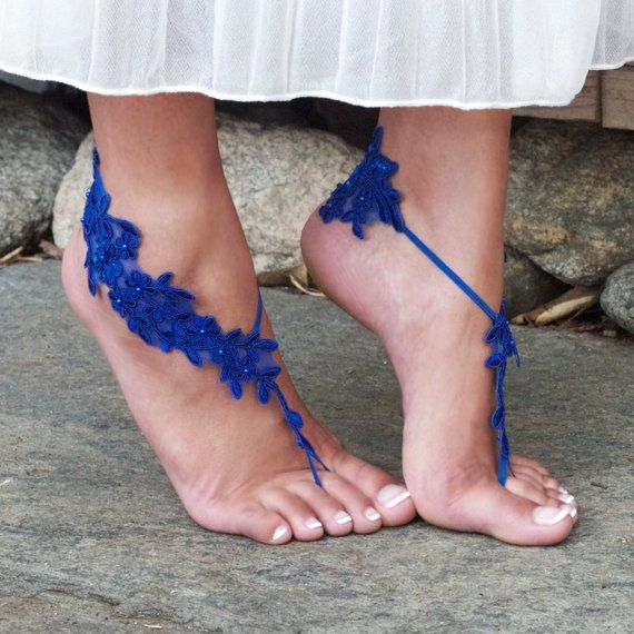 eea0249dc46ad IVORY Lace Barefoot Sandals