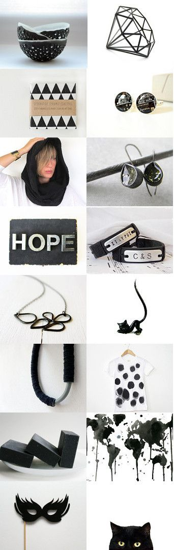 HOPE...in Black!!! by Maria on Etsy--Pinned with TreasuryPin.com