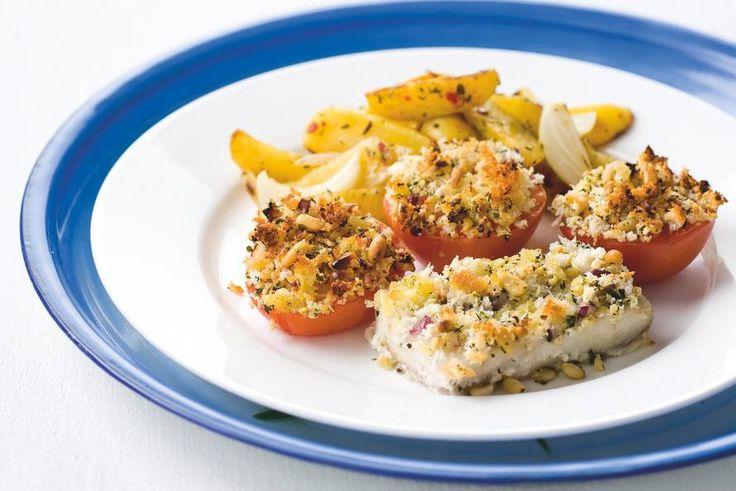 Vis en tomaten met kruidenkorst - Recept - Allerhande