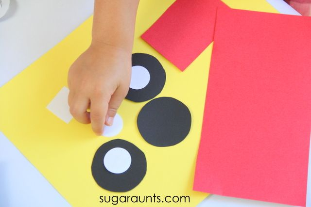 Sugar Aunts: Fire Truck Craft Easy Shapes