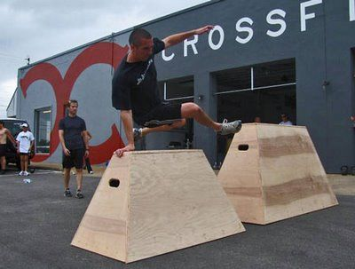 The Open Kettlebell Class Experimented With A Few Parkour Moves Wednesday Afternoon