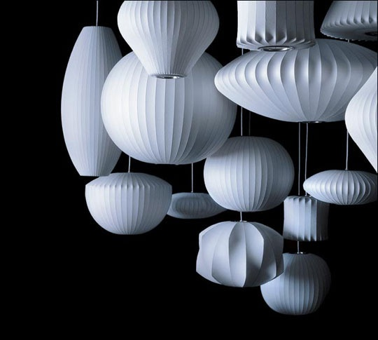 Nelson's lamps. Mid-century modern lighting.Pendants Lamps, Nelson Bubbles, Paper Lamps, George Nelson, Pendants Lights, Nelson Lamps, Bubbles Lamps, Modern Lights, Modern Design