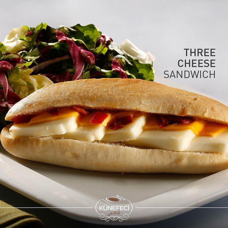 ''Sometimes You Need To Find an Escape in Delicious Flavors''  Three Cheese Sandwich by Künefeci™  #goodevening #sandwich #cheese #snack #kunefe #kanafeh #Kunefeci #Bahrain #SaudiArabia #KSA #Turkey #picoftheday #photooftheday #tagsforlikes #like4like #likeforlike #pinterest