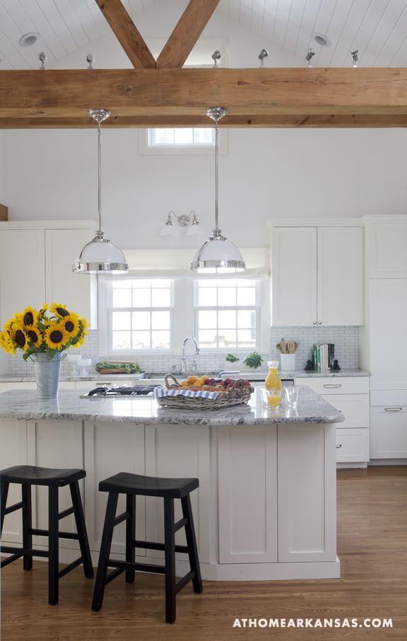 Luxury Home beams interior White Kitchen