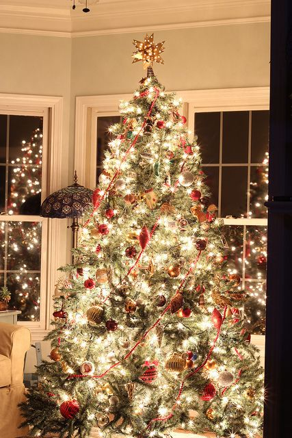 how to get a great picture of a glowing Christmas tree