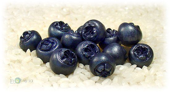 blueberry beads tutorial - in Russian, but good pics