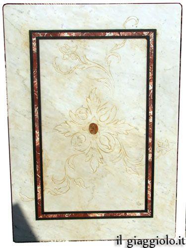 Piano per tavolo rettangolare di marmo vecchio bianco di for Marmo di carrara prezzo