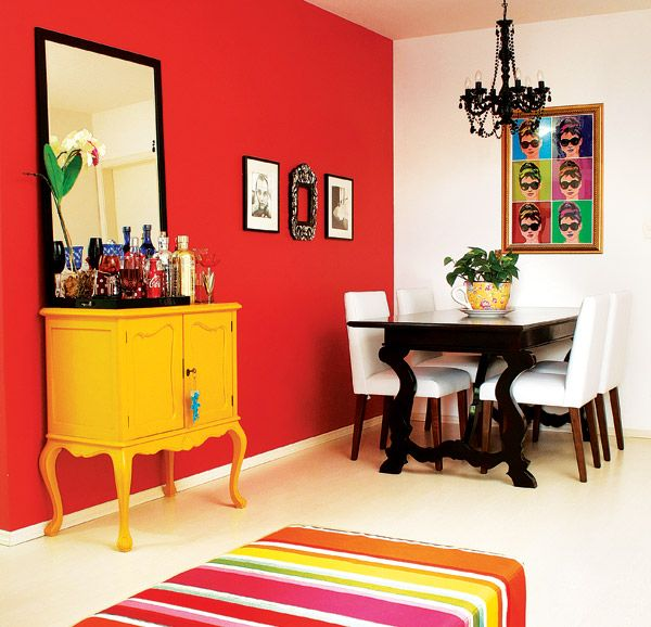 Portal Decoração - Sala colorida: Dining, Decoration, Room Decor, Home Decor, Portal Decoration, Colored Room, Colored House, Colorida Ems, Room
