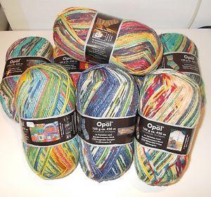 Opal-Best-of-nach-Hundertwasser-Sockenwolle-Schurwolle-Wolle-6-faedig-150-Gramm