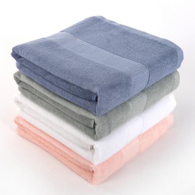 Super thick 560g bamboo fiber bath towel bamboo charcoal antibacterial bath towel plain towel 140CM X 70CM