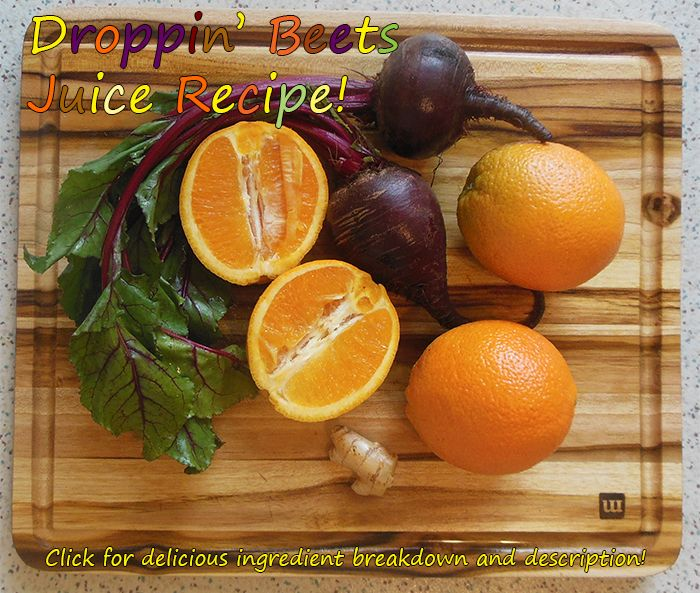 Droppin' Beets Juice Recipe! This recipe and more beet juice recipes on the page!   #juicing #beetjuicerecipes #juicerecipes