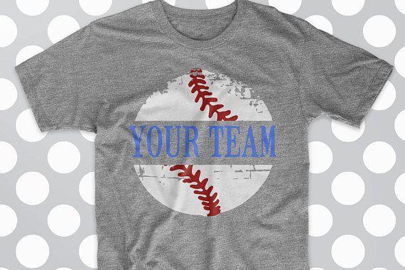 Baseball Baseball SVG Distressed Baseball shirt design