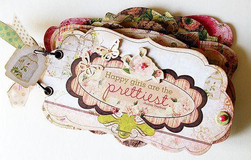 Bo Bunny: Gorgeous 'Little Miss' Mini-Album: deze collectie is nu in de winkel verkrijgbaar!Minis Book, Tags Ideas, Agnieszka Piskorz, Minis Album, Studios Mirabeel, Piskorz Bobunny, Bo Bunnies, Scrapbook Minis, Bobunny Album