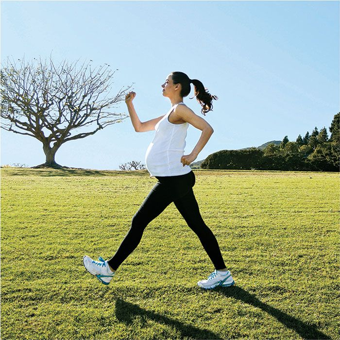 Running should continue before pregnancy