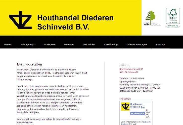 Wordpress website voor Houthandel Diederen B.V. | www.houthandeldiederen.nl