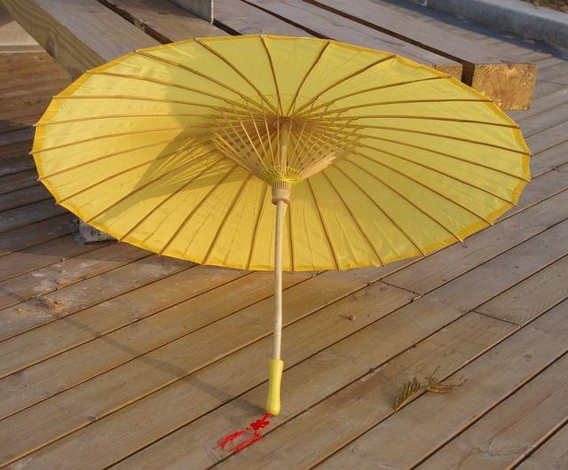 Желтый обычная ткани бамбука зонтик / зонтик отлично подходит для ну вечеринку пользу