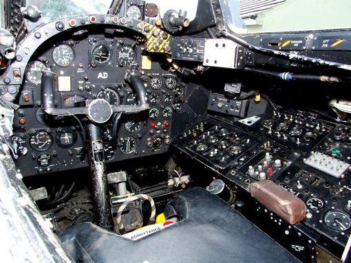 English Electric Canberra PR-9 Bomber Cockpit