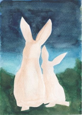 I am always there for you - Another painting card for... #christmas #christmascard #rabbit #friends #always #iamwithyou #yejipaints www.yeji-kim.com