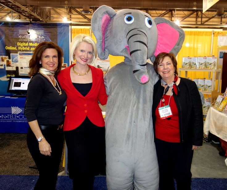 Star women on the Little Patriot Press team with Ellis the Elephant! It's Cheryl Barnes, Callista Gingrich, and Diane Reeves! ALA 2014 Philadelphia was such a great time!
