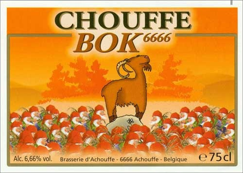 The CHOUFFE BOK 6666 is a seasonal beer especially brewed for the Netherlands. Bok beers traditionally appear on the Dutch market at the end of September.