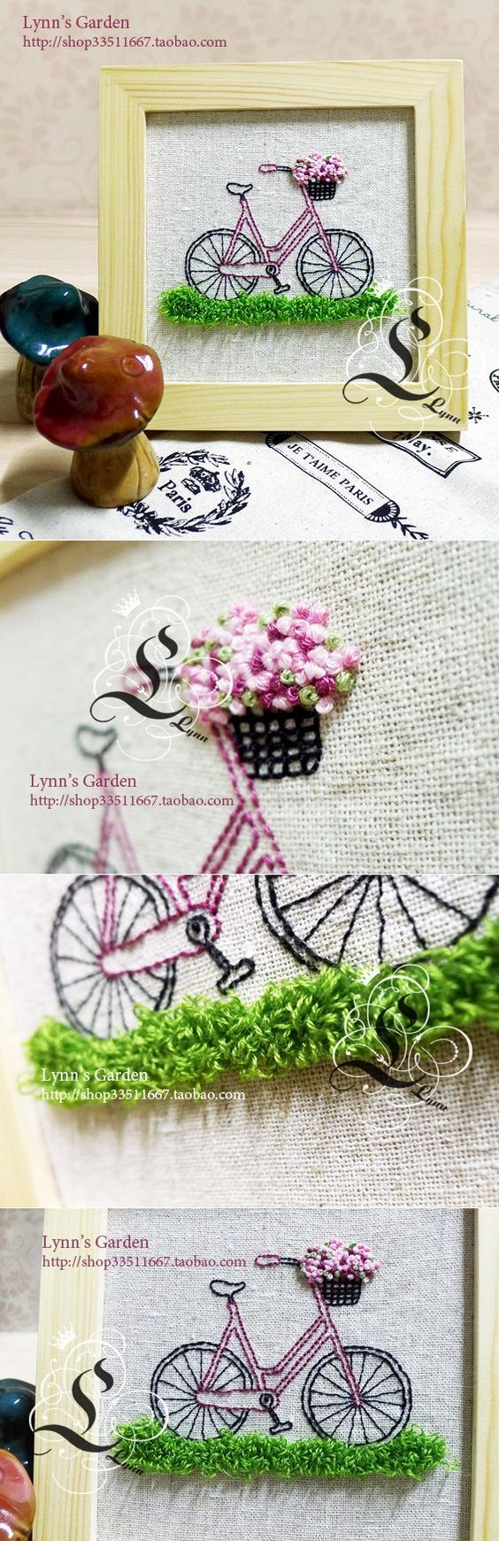 Bicycle Embroidery: