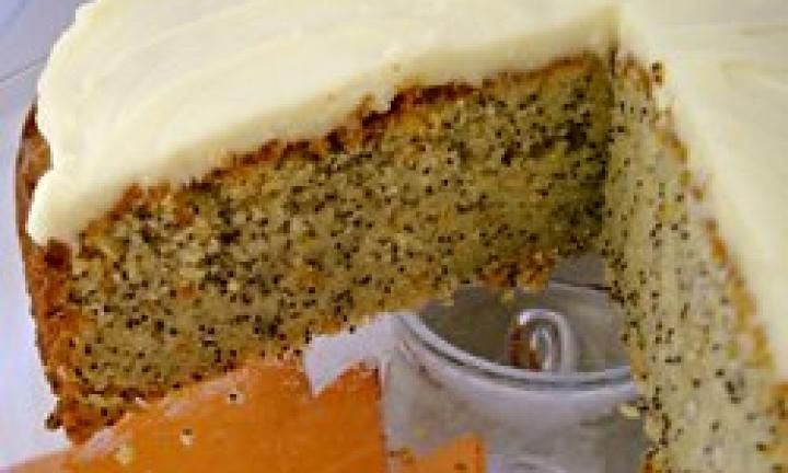 The combination of orange and lemon rinds makes this delicious poppy seed cake especially zingy. And the lemony icing is wonderful too - you could double the quantity of icing, cut the cake in half and ice the middle as well at the top. Yum!