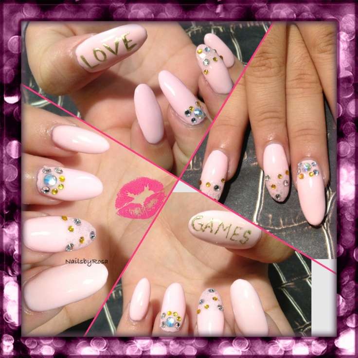 Light pinkLight Pink Nail Designs Pinterest