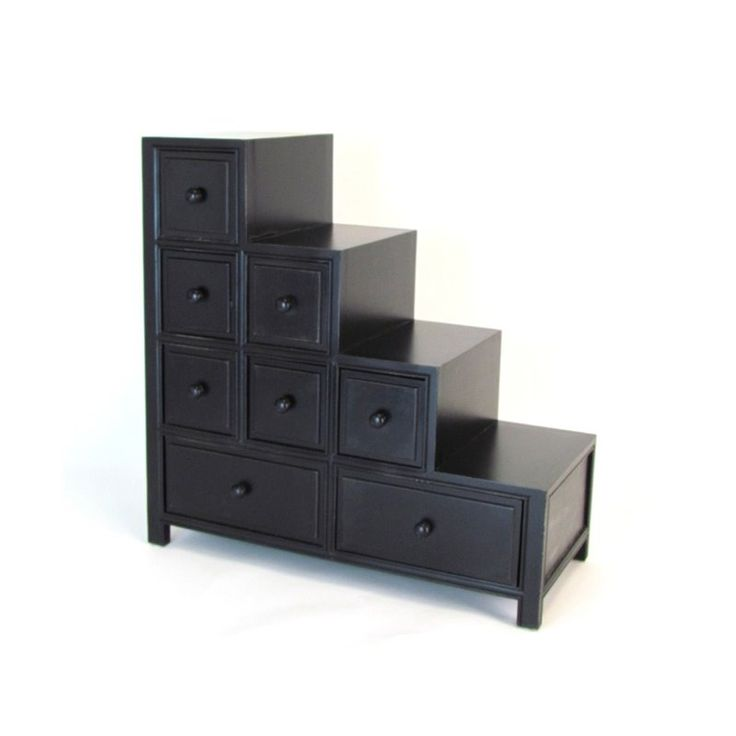 Cymax will make you stop and purchase all furniture accessories including accent chests and cabinets online. We provide quality products at reasonable prices. Can add one drawer to floor, and on each step up for more storage as well. Add another closet beside the tallest side too :)