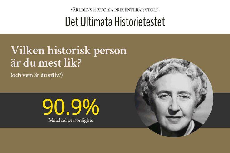 Gör Världens Historias personlighetstest och ta reda på vilken av historiens största personligheter du är mest lik. Och få samtidigt lite bättre koll på vem du är.