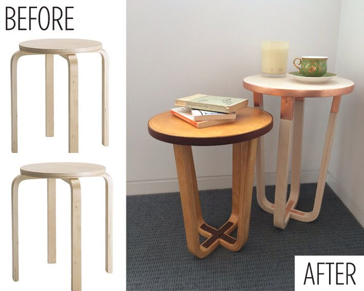 Ikea Frosta stool as side table - clever ikea hack