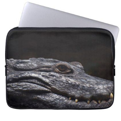 Crocodile Alligator Reptile Scary Animal Aquarium Computer Sleeve -nature diy customize sprecial design