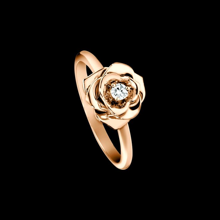 Discover Piaget Rose ring in rose gold, diamond on Piaget US online jewelry store - G34UR400 Piaget luxury ring