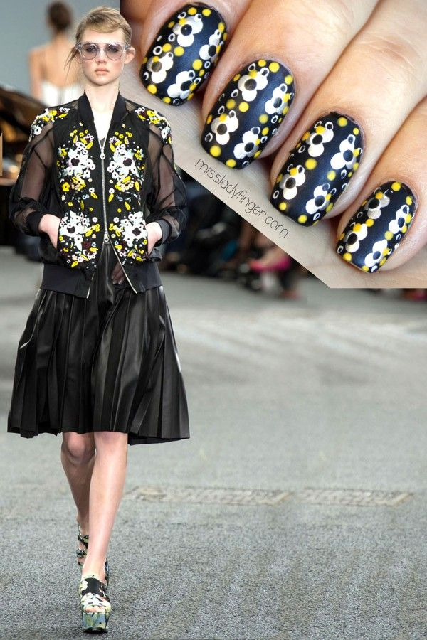 Miss Ladyfinger; hate the dress but love the nails!