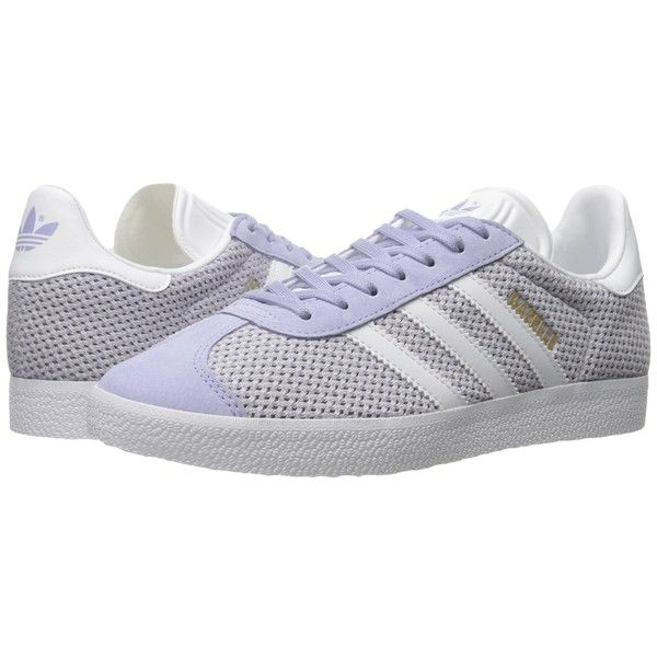 adidas Originals Gazelle (Easy Blue/Running White/Easy Blue) Women's... ($80) ❤ liked on Polyvore featuring shoes, adidas originals shoes, laced shoes, laced up shoes, sneakers tennis shoes and grip shoes